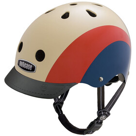 Nutcase Street casco per bici beige/rosso